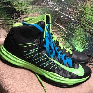 Nike Hyperdunk iD Neon Black Green 553201-991 sz13